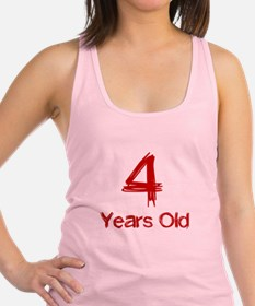 4 Years Old Racerback Tank Top