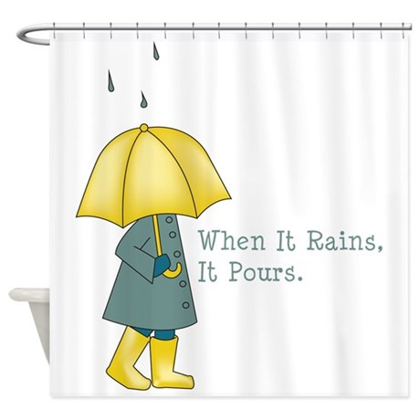 """symbolism in when it rains it pours Other suggestions included """"flows freely,"""" """"runs freely,"""" """"pours"""" and then, finally, the old proverb, """"it never rains but it pours"""" the latter was rejected as being too negative and a more positive rephrasing resulted in the now famous slogan, """"when it rains it pours®"""" the morton salt umbrella girl and slogan first appeared."""
