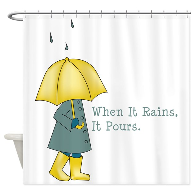 When It Rains It Pours Shower Curtain By Hopscotch1