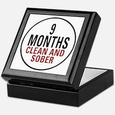 9 Months Clean & Sober Keepsake Box