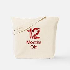 12 Months Old Baby Milestones Tote Bag