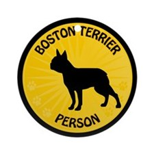 Boston Person Ornament (Round)