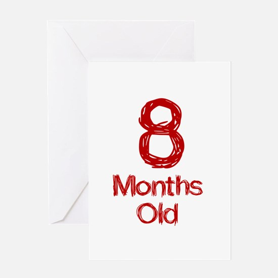 8 Months Old Baby Milestones Greeting Card