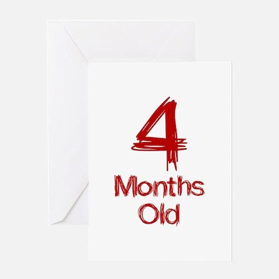 4 Months Old Baby Milestones Greeting Card