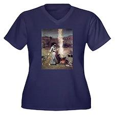 Magic Circle Women's Plus Size V-Neck Dark T-Shirt