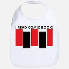 I Read Comic Books Bars Bib