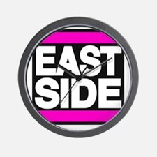 east side pink Wall Clock