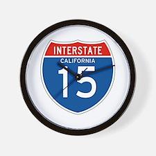 Interstate 15 - CA Wall Clock