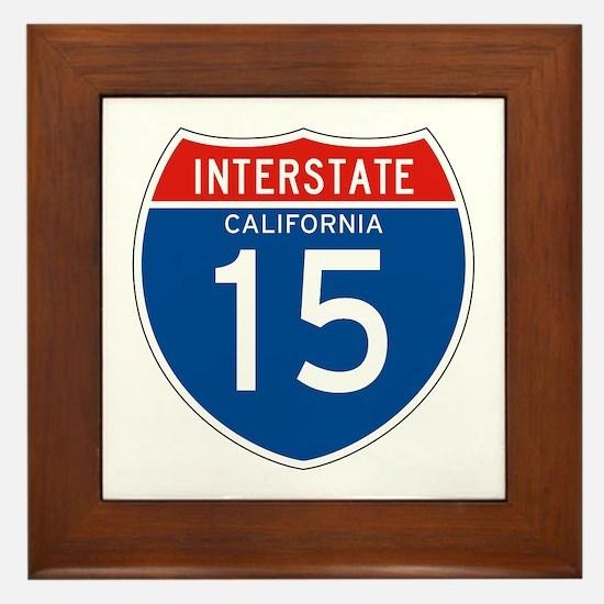 Interstate 15 - CA Framed Tile