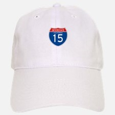 Interstate 15 - CA Baseball Baseball Cap