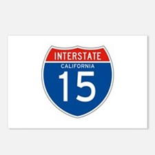 Interstate 15 - CA Postcards (Package of 8)