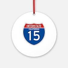 Interstate 15 - CA Ornament (Round)