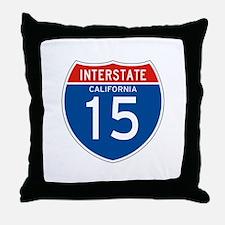 Interstate 15 - CA Throw Pillow