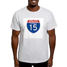 Interstate 15 - CA Ash Grey T-Shirt