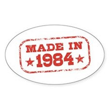 Made In 1984 Decal