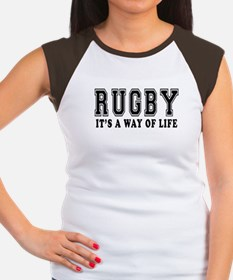 Rugby It's A Way Of Life Women's Cap Sleeve T-Shir