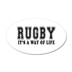Rugby It's A Way Of Life Wall Decal
