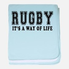 Rugby It's A Way Of Life baby blanket