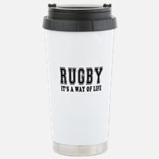 Rugby It's A Way Of Life Stainless Steel Travel Mu