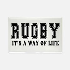 Rugby It's A Way Of Life Rectangle Magnet
