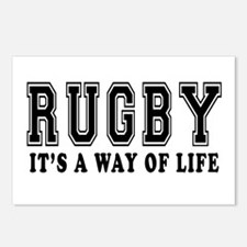 Rugby It's A Way Of Life Postcards (Package of 8)