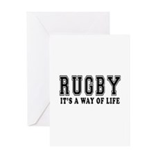 Rugby It's A Way Of Life Greeting Card