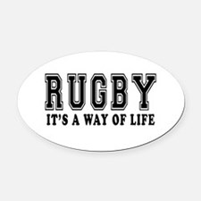 Rugby It's A Way Of Life Oval Car Magnet