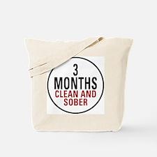 3 Months Clean & Sober Tote Bag