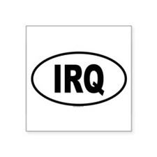 IRQ Oval Sticker