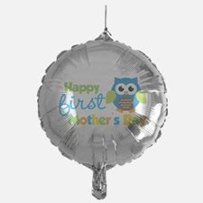 Owl Boy 1st Mothers Day Balloon