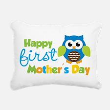 Owl Boy 1st Mothers Day Rectangular Canvas Pillow