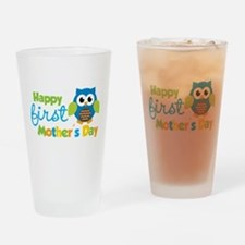 Owl Boy 1st Mothers Day Drinking Glass