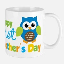 Owl Boy 1st Mothers Day Small Small Mug