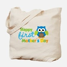 Owl Boy 1st Mothers Day Tote Bag