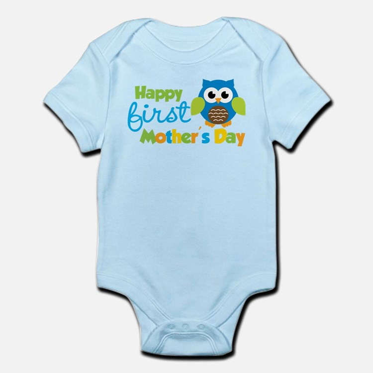 Owl Boy 1st Mothers Day Body Suit