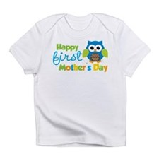 Owl Boy 1st Mothers Day Infant T-Shirt