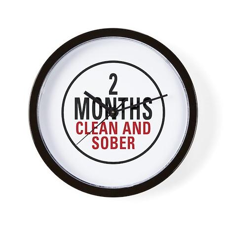2 Months Clean & Sober Wall Clock