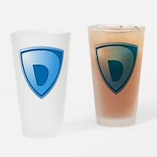 Super D Super Hero Design Drinking Glass