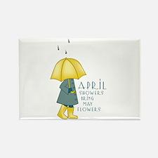April Showers Rectangle Magnet