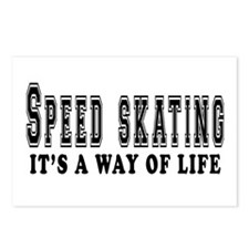 Speed Skating It's A Way Of Life Postcards (Packag