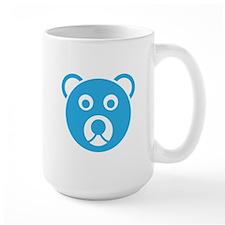 Cute Blue Teddy Bear Face Mug