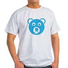Cute Blue Teddy Bear Face T-Shirt