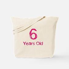 6 Years Old Tote Bag