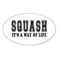 Squash It's A Way Of Life Decal