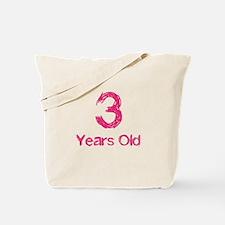 3 Years Old Tote Bag