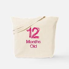 12 Month Old Baby Milestones Tote Bag