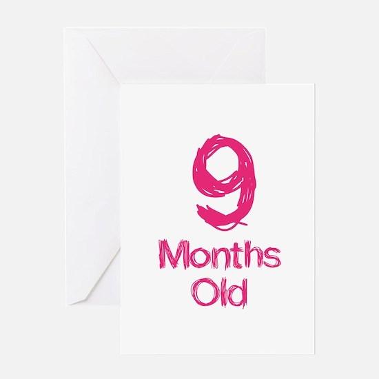 9 Months Old Baby Milestones Greeting Card