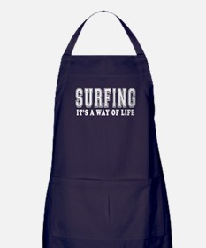 Surfing It's A Way Of Life Apron (dark)