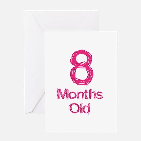 8 Months Old Baby Milestones Greeting Card