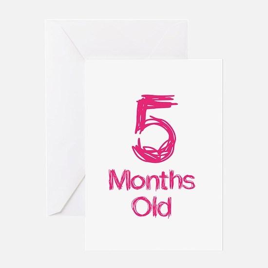 5 Months Old Baby Milestones Greeting Card